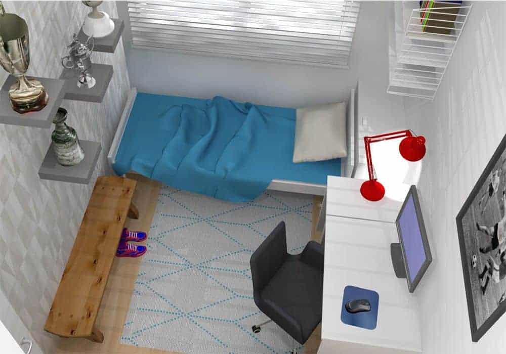 mały pokój nastolatka