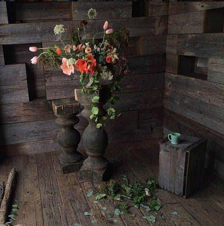 styl rustykalny, projekt kwiaciarni