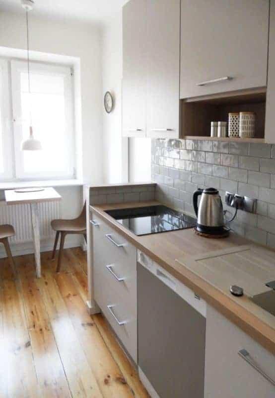 projektowanie wnętrz z wykonaniem, projekt zabudowa kuchni w mieszkaniu na Grochowie
