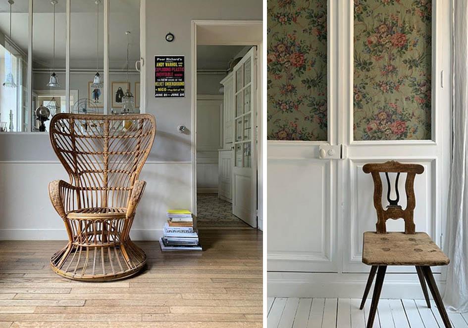 stary fotel, stare krzesło, antyki