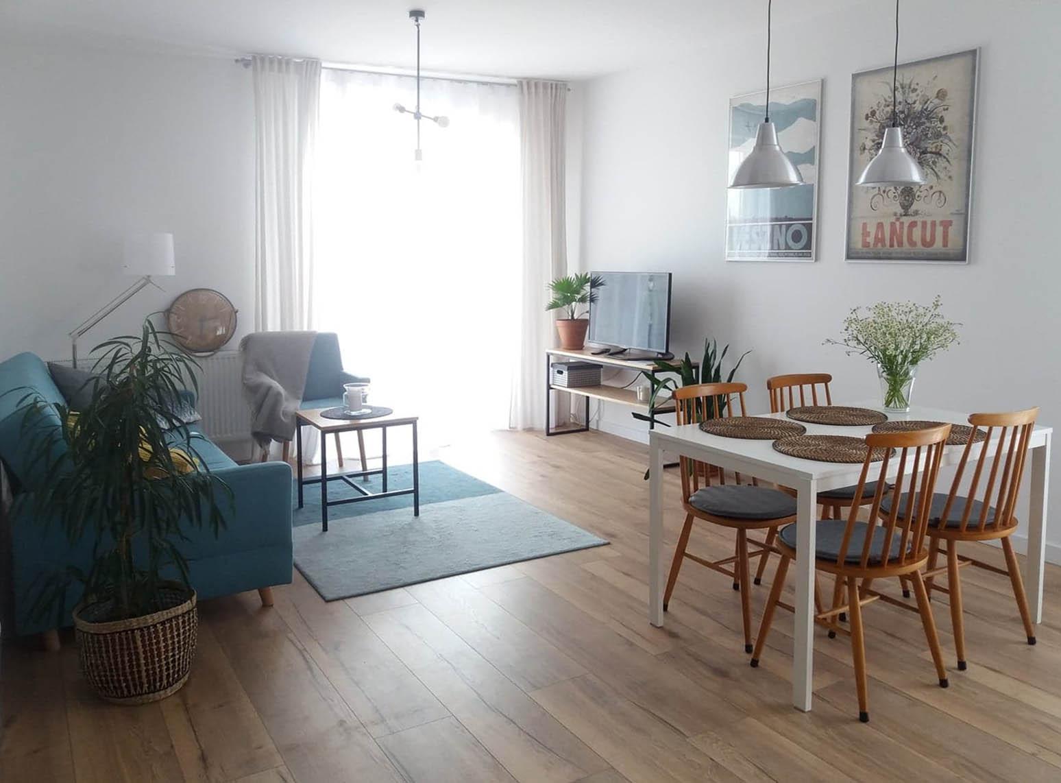 salon w mieszkaniu pod wynajem