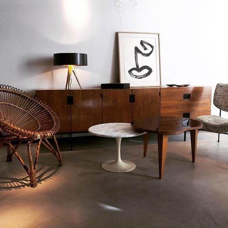 wiklinowy fotel lata 60
